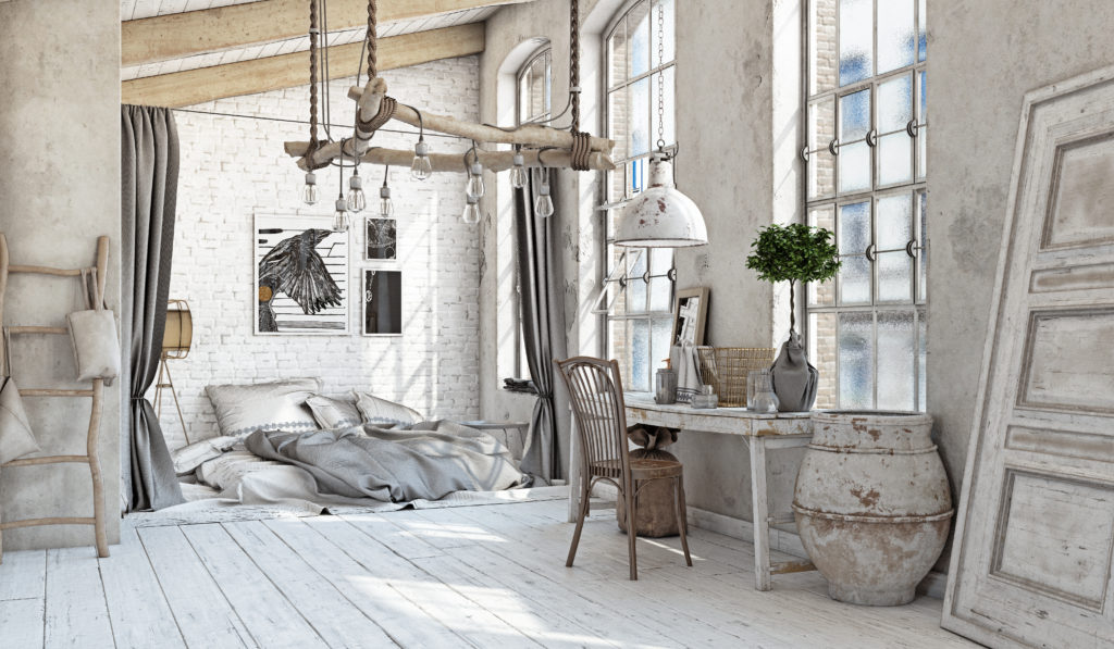 Shabby Chic Home Design and Bedroom Interior